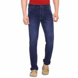 Mens Dark Blue Cotton Jeans