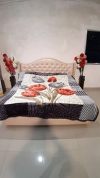 Double Bed Diamond Grey Blankets