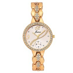 Golden Fashion Women Wrist Watch