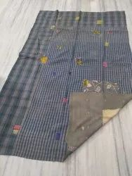 Small Blockes With Leaf Vintage Kantha Quilt