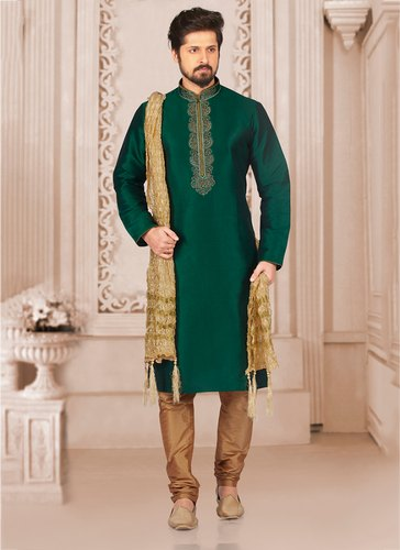 3a9d47a6e7 Kesari Exports Party Wear Banarasi Silk Kurta Pajama Collection for Men