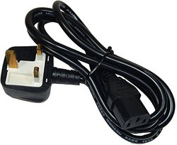 10A 250v Heavy Duty Desktop/Printer/SMPS Copper C13 Power Cord with Built in Fuse - UK Power Plug