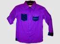 Boy Light Pink Checks Shirt