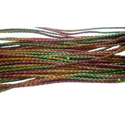 Multi Colored Braided Leather Cords