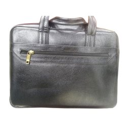BLC Black Leather Office Bag