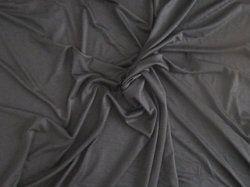 Black Viscose & Rayon Fabric, For Apparel, Plain
