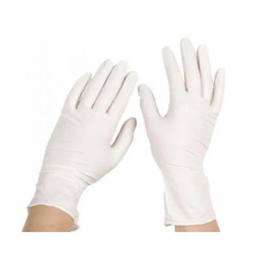 SSD White Rubber Full Finger Gloves