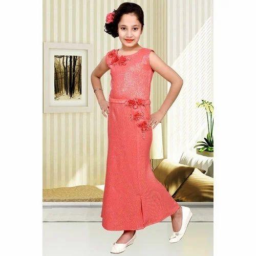 6d3a45a2e Kids Girls Party Wear Dress - Kids Party Wear One Piece Dress ...