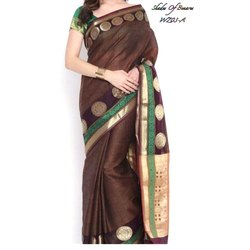 Party Wear Fancy Banarasi Kora Patola Sarees, With Blouse Piece