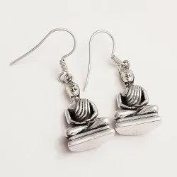 Sterling Silver 925 Buddah Earring