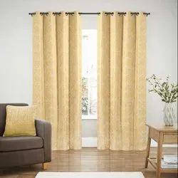 52 x 60 inch Gold Jacquard Blackout Curtain