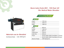 Hodis Bio- 750 Dual AD Bio Medical Waste Shredder