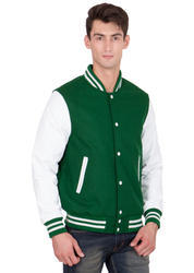 Green White Varsity Jacket