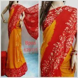 Handmade Batik Work Chennuri Silk by Silk Sarees