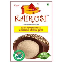 Kairusi White Pepper Powder, Packaging Size: 50g