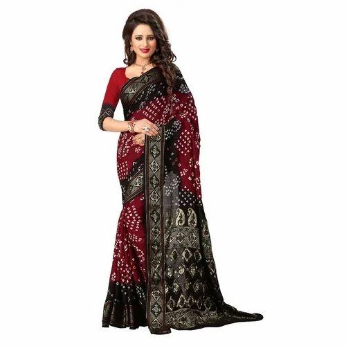 00e36f4f32 Heavy Pallu Bandhani Saree, Bandhani Saree - Sondarya Bandhani ...