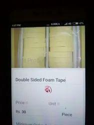 Yellow foam tape