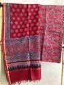 Maheshwari Silk Ajrakh Material