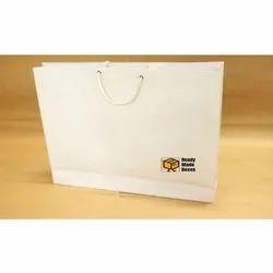 18x14x4 White Paper Bag
