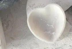 Heart shape marble bowl