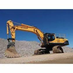 5000 Kg 60 HP Hyundai Excavator on Rent, Maximum Bucket Capacity: 0.6 cum