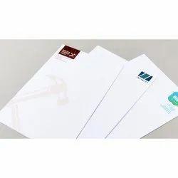 White Rectangle Paper Printed Letterhead