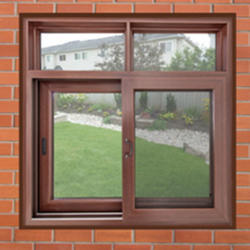 Brown Chi Q Combination Wooden Window