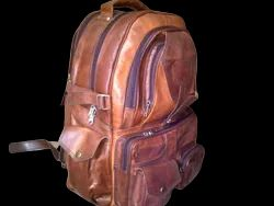 Genuine Leather Smart Backpack