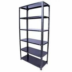 6-8 Feet Gray MS Slotted Angle Rack, For Industrial, 50-100kg