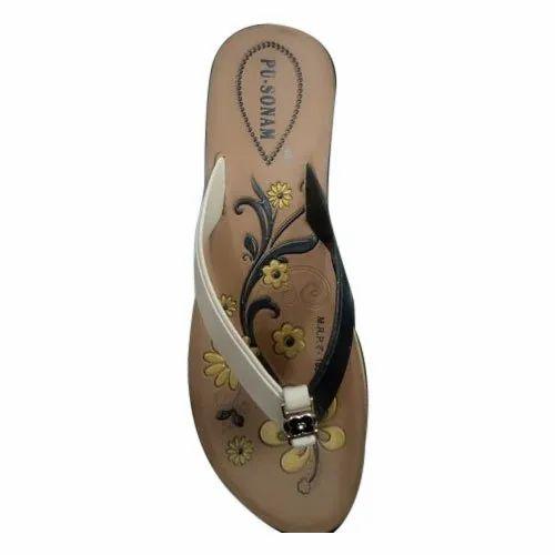 da1ed3c30ce22 Daily Wear PU-Sonam Ladies Slipper, Rs 65 /pair, Sumit Footwear | ID ...