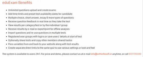 Arth Infosoft EduExam Online Exam Software | ID: 21148991712