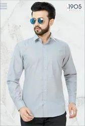 Mafatlal Premium Shirt (Blue Filafil)