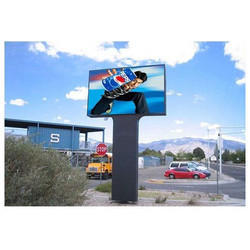 Outdoor Unipole Digital Hoarding Screen