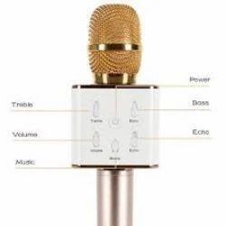 Handheld Wireless Microphone Q7 With Bluetooth Speaker