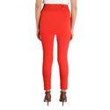 Red Color Plain Leggings