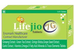 Ginseng Extract, Green Tea Extract, Ginkgo Biloba, Grape Seed Extract