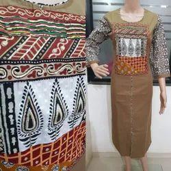 Cotton Party Wear Ladies Printed Designer Kurtis, Size: M-XXL