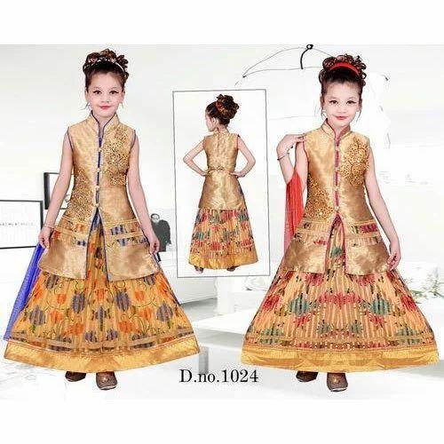 d8c031d31 Golden Kids Girl Elegant Indo Western Dress