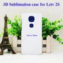 White Plastic Sublimation Plain Back Cover For Samsung Letv Le 2 / Le 2s