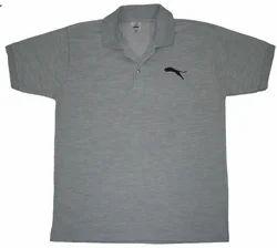 ffda7dec575 Polyester Printed Collar Matte Lion Design Grey T Shirt Xl Size
