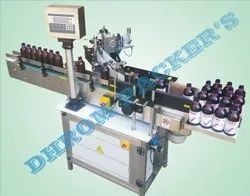 HAND SANITIZER BOTTLE STICKER LABELLING MACHINE