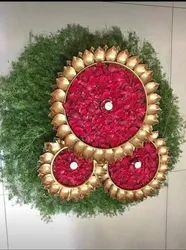 Metal Rose Petal Tray