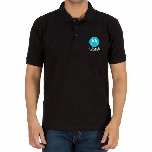 Black Logo Printed Polo T Shirt Rs 380