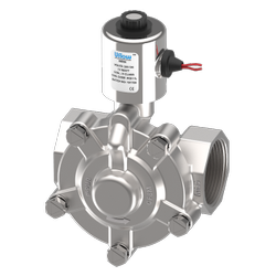 1 1/2 Pilot Operated Diaphragm Type Solenoid Valve (NC) With Manual Override
