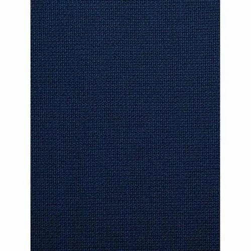 Dark Blue Mesh Navy Suiting Fabric