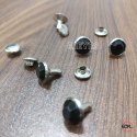9mm Steel & Stone Stone Rivets Black