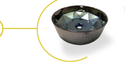 Titonic Round Designer Crystal Glass Basin, Size: 405x405x145mm