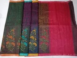 Ladies Chanderi Stylish Silk Saree