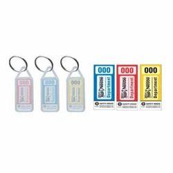 Transparent Plastic Keyring SH-KR-WOM