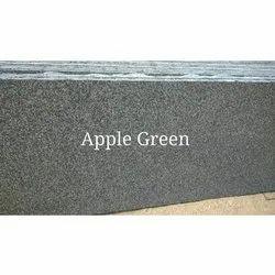 Polished Apple Green Granite Slab, Thickness: 15-20 Mm